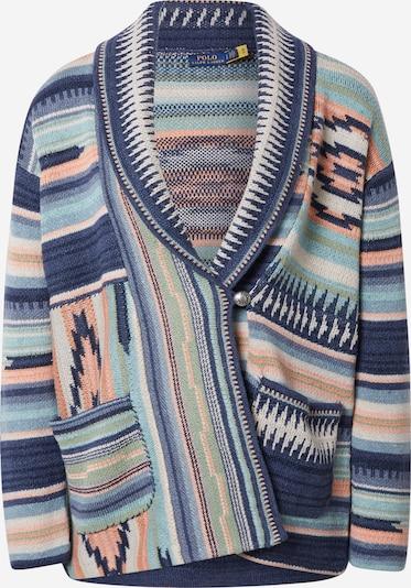 Polo Ralph Lauren Kardigán - námornícka modrá / modrosivá / mätová / svetlooranžová / púdrová, Produkt