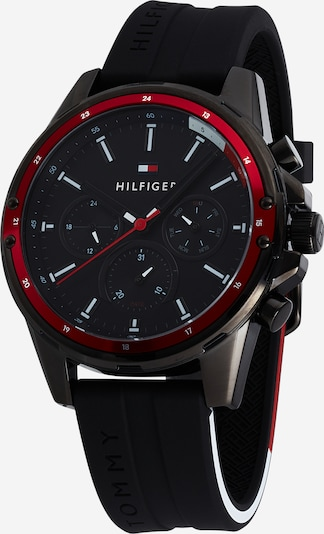 TOMMY HILFIGER Analog watch 'MASON' in red / black, Item view