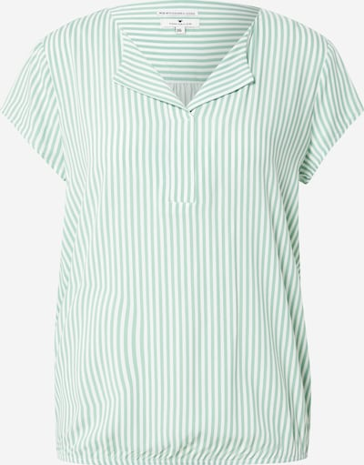 TOM TAILOR Bluza   smaragd / bela barva, Prikaz izdelka