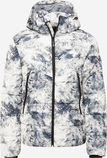 TOM TAILOR DENIM Jacke in taubenblau / weiß, Produktansicht
