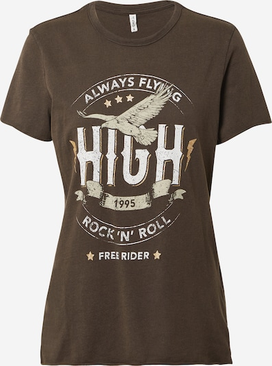ONLY Shirt in braun / gold / grau / weiß, Produktansicht