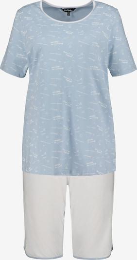 Ulla Popken Korte pyjama in de kleur Lichtblauw / Wit, Productweergave