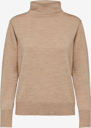 SELECTED FEMME Merinowoll Pullover in beige, Produktansicht