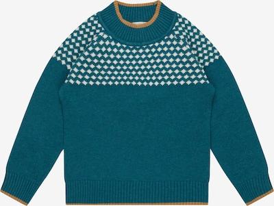 Sense Organics Pullover 'Amaru' in elfenbein / petrol, Produktansicht