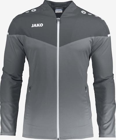 JAKO Sportjacke in grau / dunkelgrau / weiß, Produktansicht