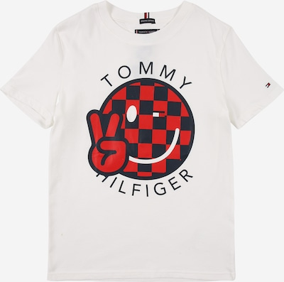 TOMMY HILFIGER Shirt 'SMILE' in de kleur Marine / Donkerrood / Wit, Productweergave