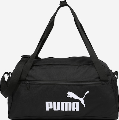 PUMA Športová taška - čierna / biela, Produkt