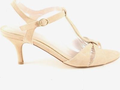 Minozzi Milano T-Steg-Sandaletten in 40 in creme, Produktansicht