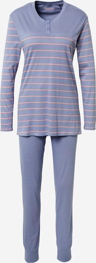 SCHIESSER Pyjama in rauchblau / rosa, Produktansicht