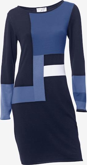 Rochie tricotat heine pe albastru marin / gri / alb, Vizualizare produs