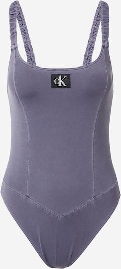 Costum de baie întreg Calvin Klein Swimwear pe albastru porumbel / negru / alb, Vizualizare produs