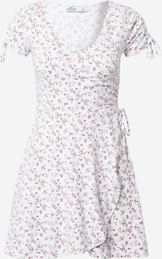 HOLLISTER Лятна рокла в пастелно зелено / червено / бяло, Преглед на продукта