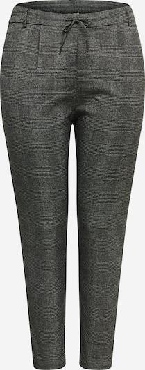 ONLY Carmakoma Hlače z naborki | črna / bela barva, Prikaz izdelka