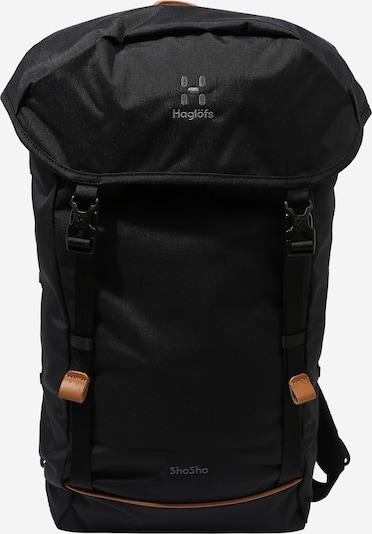Haglöfs Plecak sportowy 'ShoSho' w kolorze czarny / białym: Widok z przodu