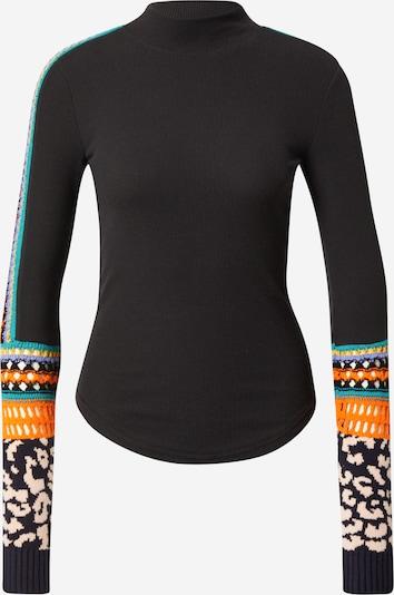 Free People Shirt in jade / flieder / hellorange / schwarz / weiß, Produktansicht
