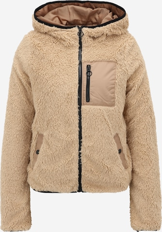 Vero Moda Tall Fleece Jacket 'STELLA' in Brown