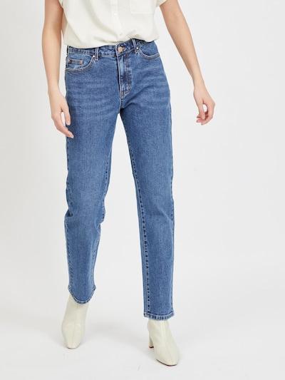 Džinsai iš VILA, spalva – tamsiai (džinso) mėlyna, Modelio vaizdas