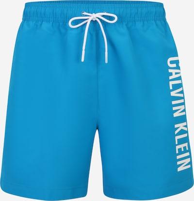 Calvin Klein Swimwear Kupaće hlače 'Intense Power' u akvamarin / bijela, Pregled proizvoda