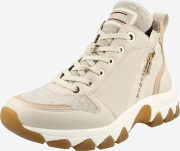 Sneaker înalt 'Yuki' de la bugatti pe bej