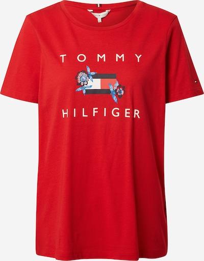 Tricou TOMMY HILFIGER pe albastru noapte / albastru deschis / roșu / alb, Vizualizare produs