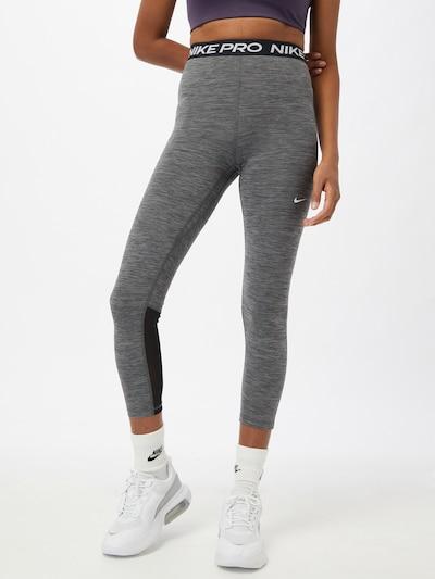 NIKE Sporthose in grau / schwarz, Modelansicht