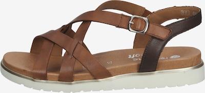 REMONTE Sandale in braun / silber / weiß, Produktansicht