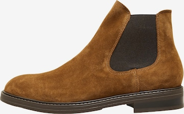 Boots chelsea 'SLHBLAKE' di SELECTED HOMME in marrone