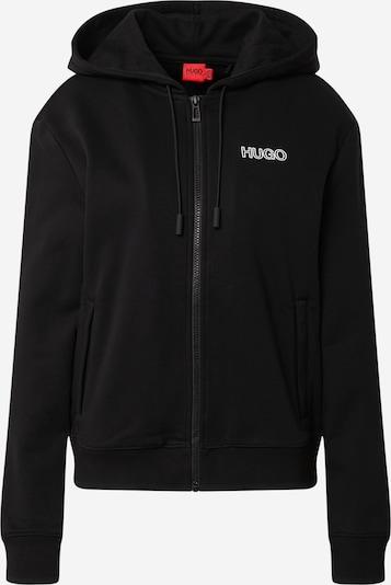 HUGO Sudadera con cremallera 'Dakoto' en negro / blanco, Vista del producto