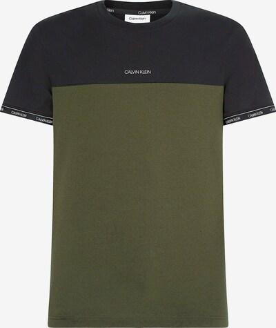 Calvin Klein T-Shirt in dunkelblau / oliv / weiß, Produktansicht