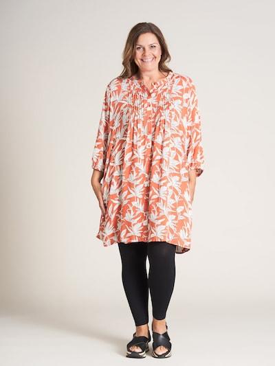 GOZZIP Tunika 'Kirsten' in grau / orange / weiß: Frontalansicht