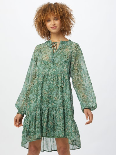 ZABAIONE Kleid in hellblau / khaki / mint / pfirsich, Modelansicht