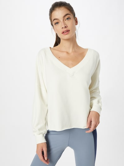 NIKE Sportsweatshirt 'Luxe' in creme: Frontalansicht
