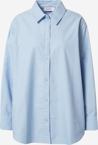 WEEKDAY Bluse 'Edyn Oxford' in Blau