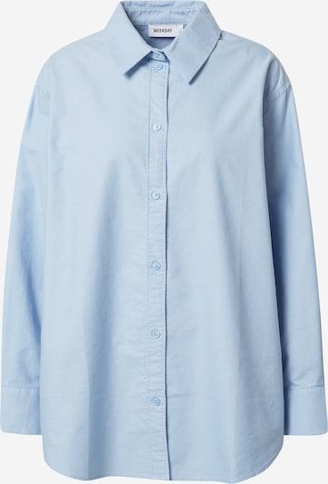 WEEKDAY Блуза 'Edyn Oxford' в синьо, Преглед на продукта