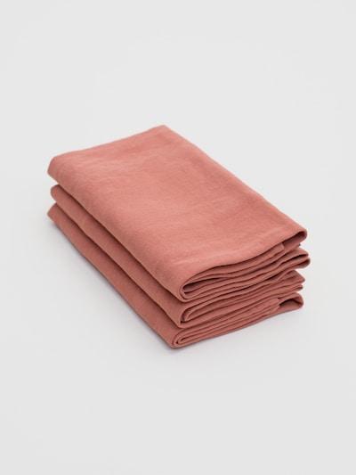 Erlich Textil Vaatdoek 'Bente' in de kleur Roestrood, Productweergave
