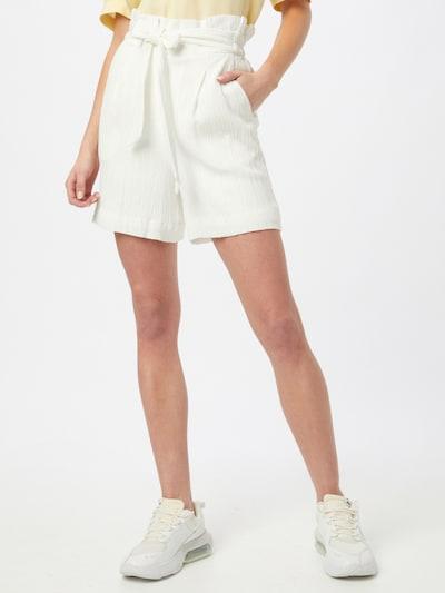 Klostuotos kelnės iš ICHI , spalva - balkšva, Modelio vaizdas