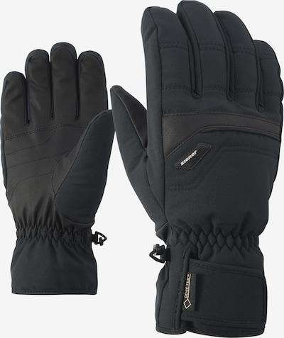 ZIENER Fingerhandschuhe 'GLYN GTX + Gore plus warm glove ski' in schwarz, Produktansicht