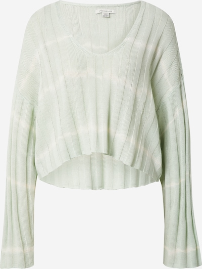 American Eagle Pulover | pastelno zelena / bela barva, Prikaz izdelka