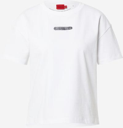 HUGO T-shirt en gris foncé / blanc, Vue avec produit