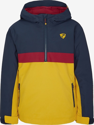 ZIENER Skijacke 'Absalom' in dunkelblau / gelb / rot, Produktansicht