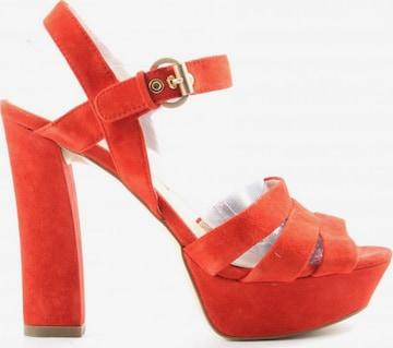 Di Lauro High Heel Sandaletten in 39 in Rot