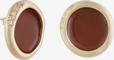 Zoccai Ohrringe in rostbraun / gold, Produktansicht