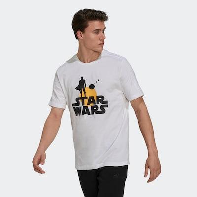 ADIDAS PERFORMANCE T-Shirt in mischfarben / weiß: Frontalansicht