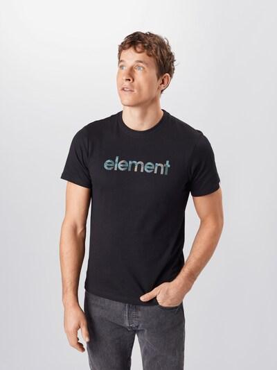 ELEMENT Shirt 'Water Camo Mark' in de kleur Zwart: Vooraanzicht