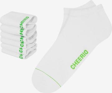 CHEERIO* Socks 'SNEAKER PAL 6P' in White
