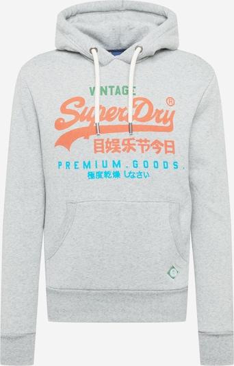 Superdry Sweatshirt in de kleur Blauw / Grijs gemêleerd / Sinaasappel, Productweergave
