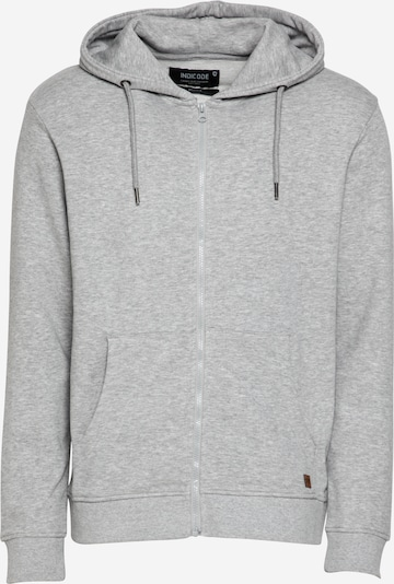 INDICODE JEANS Sweat jacket 'Walton' in Grey mottled, Item view