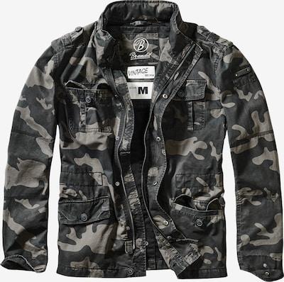 Brandit Jacke in dunkelgrau / khaki, Produktansicht