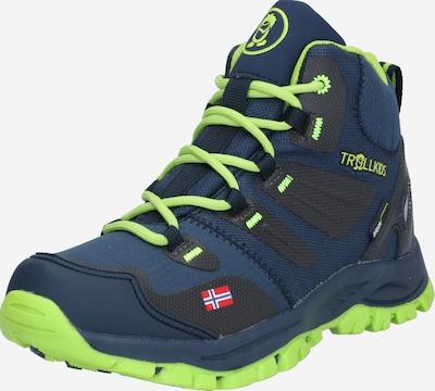 TROLLKIDS Schuh  'Rondane' in navy / neongelb / schwarz, Produktansicht
