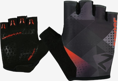 ZIENER Fingerhandschuhe 'CRISTOFFER' in rot / schwarz, Produktansicht